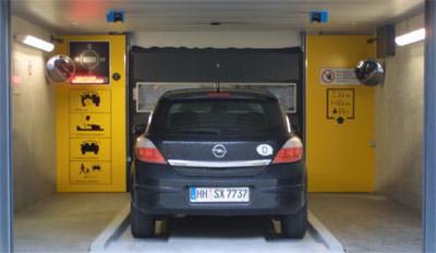 Parksystem, Deutschlands, vollautomatisches Parkhaus, Fahrzeuge parken, automatisches Parkhaus, Autos auf Paletten, Palettensystem, Transportsystem, Parkhäuser, automatisches Parksystem