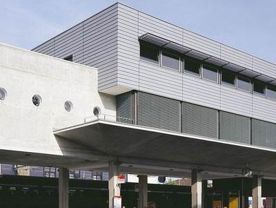 vorgehängte, hinterlüftete Fassade: Stulppaneele