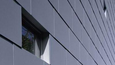 vorgehängte, hinterlüftete Fassade: Rauten-Bekleidung oder -Fassade