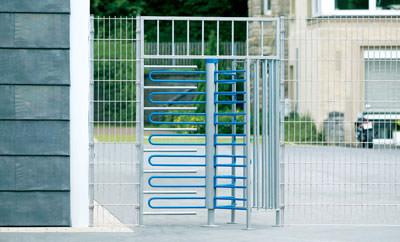 Zaun, Drehkreuz, Personenschleuse, Tor, Drehkreuze