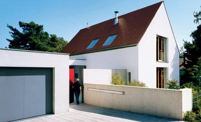 Bauherrensonderpreis, Architekten Gudrun und Johannes Berschneider, einfaches Haus