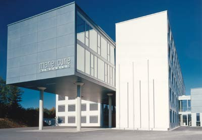 Sanierung, Marie-Curie-Gymnasium, Bad Berka, Plattenbau