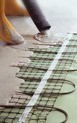 einfache verarbeitung von elektrischer fu bodenheizung in fliesestrich. Black Bedroom Furniture Sets. Home Design Ideas