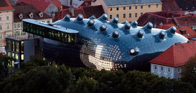 Kunsthaus Graz, Bubble, blaue Blase