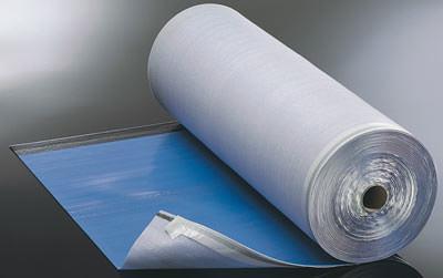 Feuchtigkeitssperre, selbstklebender Dichtrand, Bodenaufbau, Fußbodenbodenaufbau, aufsteigende Feuchtigkeit, Polyethylenschaum, PE-Kaschierung, Dampfsperre, Dampfsperrwert