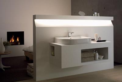 mit lulu l st dornbracht die grenze zwischen bad und wohnraum auf. Black Bedroom Furniture Sets. Home Design Ideas