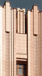 Fassaden, Fassade, Fassadengestaltungen, geflieste Fassade