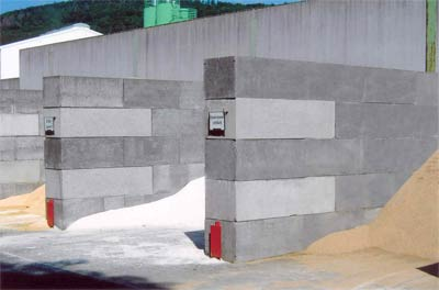 Sch ttgutboxenbau leicht gemacht boxenanlage f r sch ttgut aus schwergewichtssteine - Betonelemente garten ...