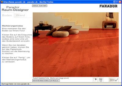 parador erweitert internetauftritt um einen raum designer. Black Bedroom Furniture Sets. Home Design Ideas