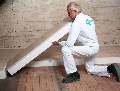 im sinne der enev neue rigidur dachbodenelementen von rigips d mmung des dachbodens. Black Bedroom Furniture Sets. Home Design Ideas