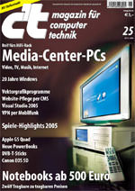 Wohnzimmer-PC, Media-Center PC, HiFi-Rack, MCE-Etikett, Media-Center-Software, Fernbedienung, c't, Microsoft, Wohnzimmer, Fernsteuerung, HiFi-Equipment, Videorecorder