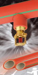 Sprinkleranlage, schweißbares Kunststoffrohr, Sprinkleranlagen, Faserverbundtechnologie, Feuersprinkleranlagen, Feuersprinkleranlage