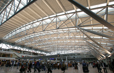 Hamburgs Airport, Architekturbüro von Gerkan, Marg und Partner, Flughafen Hamburg