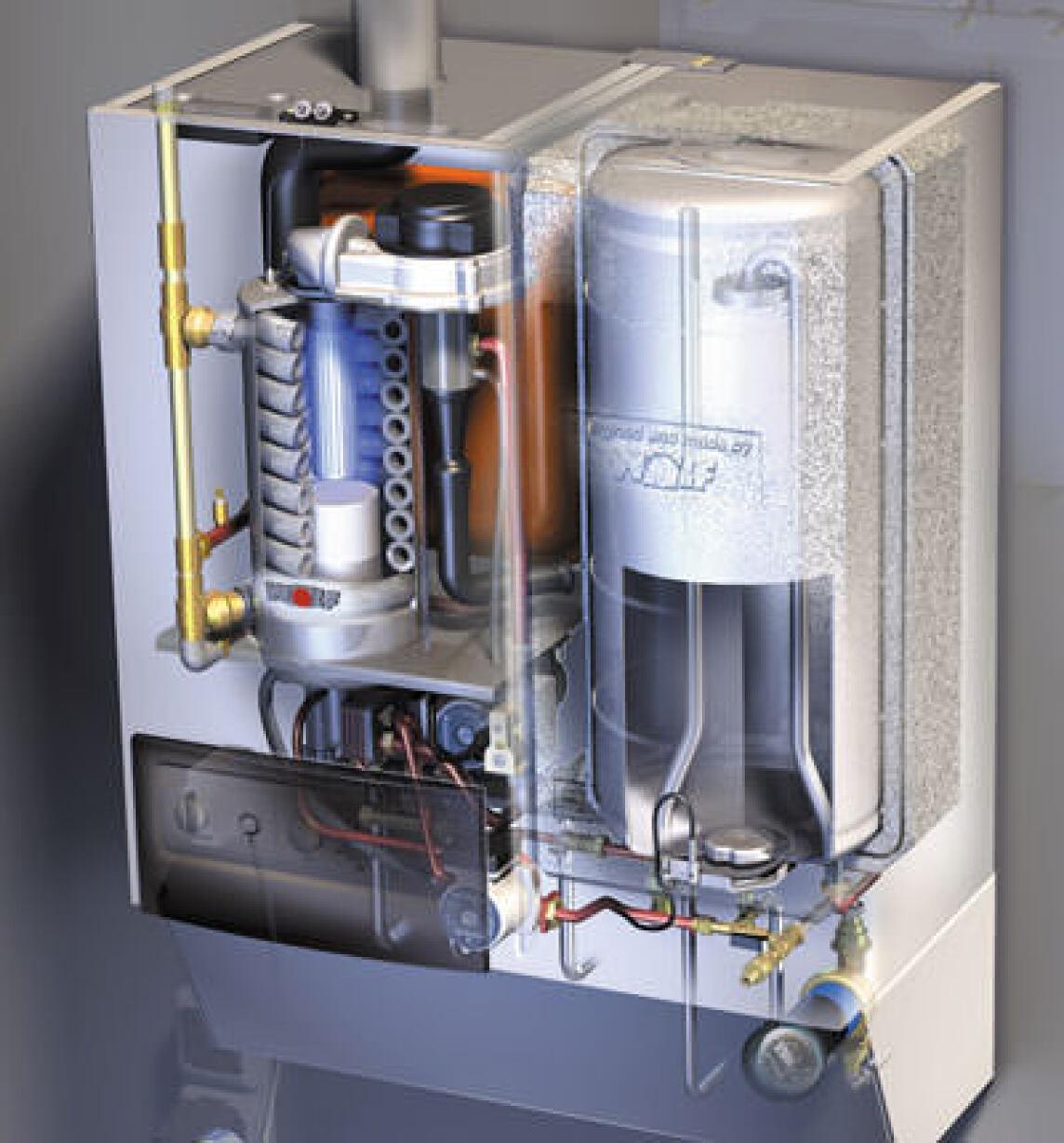 wandh ngende gas brennwertzentrale mit integrierter. Black Bedroom Furniture Sets. Home Design Ideas