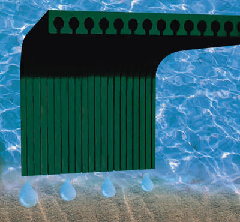 Drainage, Entwässerungssystem, Kapillarwirkung, Kellerwand, Entwässerung, Geotextil, Spülschacht, Kontrollschacht