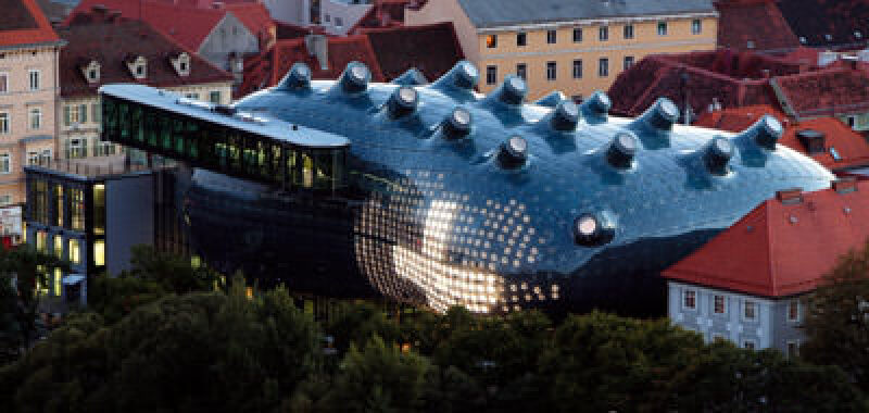Kunsthaus Graz, Bubble, blaue Blase, Architecture+Technology Award, Architektur und Technik