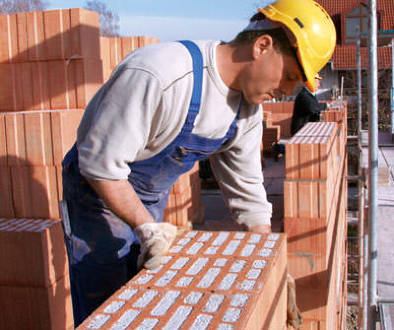 Mauerziegel, Dämmziegel, Poroton,Wandbaustoff, perlitgefüllter Mauerziegel, Wandbaustoffe, Ziegelmauerwerk, Objektbau, Wohnungsbau, integrierte Wärmedämmung, Schlagmann Baustoffwerke, ohne zusätzliche Fassadendämmung, Außenwanddämmung