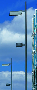 Mastleuchte, Mastleuchten, Straßenleuchte, Straßenlampe, Werfer-Spiegel-Systeme