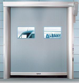 Rolltor, Tor, Albany Door Systems, Rapid Roll 600, Schnelllaufrolltor, Öffnungsgeschwindigkeit, Schnelllaufrolltore, Torbehang aus Rolltex, Federausgleichssystem, Nofama