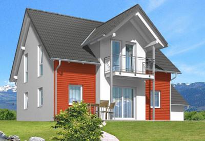 Energiesparhaus, Energiesparhäuser, Fertighäuser, Eigenheim, Fertighausanbieter, Ex-Norm, Fertighaus, Anbaumodule, Fassadentyp, Nutzkeller, Außenluft-Wärmepumpe