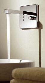 dornbracht etech elektronische armatur in architektonischem design. Black Bedroom Furniture Sets. Home Design Ideas