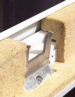 Türzarge, Stahlzarge, Zargenmontage, Mineralwolle-Formteile, Zargenhinterfüllung, Eckzarge, Blockzarge