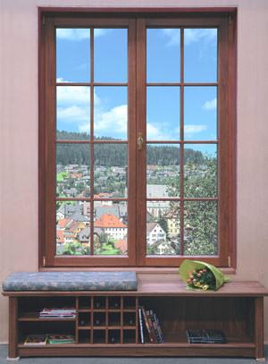 Aluminium-Holzfenster, Holz-Aluminiumfenster, Edelholzfenster, Aluminiumschale, Alu-Holzfenster, Holz-Alufenster, Ahorn, Erle, Kirschbaum, Nussbaum, Teak, Mahagoni, echte Holzoptik