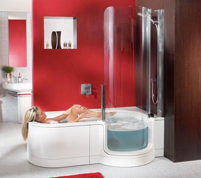 dusche und badewanne behindertengerecht kombiniert. Black Bedroom Furniture Sets. Home Design Ideas