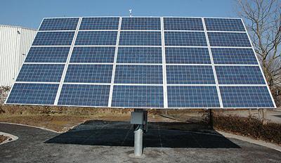 SolarWorld, Solarzellen folgen der Sonne, Solarzelle, PV-Anlage, Photovoltaik, Suntrac,  Solartechnik, Energiedach, Solardach, Sonnenverfolgung, Solaranlage dreht sich nach der Sonne