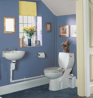 mit kleinhebeanlagen ist ein abwasseranschluss berall m glich. Black Bedroom Furniture Sets. Home Design Ideas