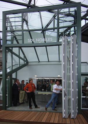 Design-Wintergarten, Wintergarten, Solarlux Nobiles, Stufenglas, Wasserablauf, Wintergartendach, Wintergarten-Dachsystem, wärmegedämmte Dachsysteme