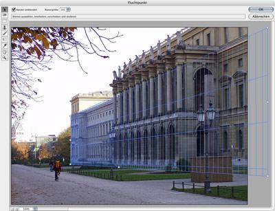 Architektur, Bauwesen, Fotos perspektivisch entzerren, Adobe Photoshop CS2, Panoramafunktion, Fotografie, Bauwesen, Bildmontage, Baustellenbilder, stürzende Linien, Baustellenschild, Fotos archivieren, Archivierung, perspektivische Verzerrung, Fluchtpunkte, Bildkorrektur, Blendenkorrektur