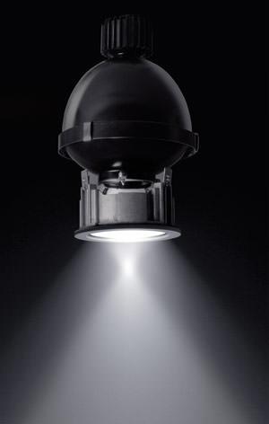 Einbauleuchte, Doppelfokus-Leuchte, Doppelfokus-Leuchten, technische Leuchten, Einbauleuchten, technische Leuchte, Grundbeleuchtung, Doppelfokus-Einbauleuchte, Lichttechnik, Fokusreflektor, Gegenreflektor, Hochdruckentladungslampe