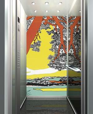 sch n schlicht finnisch kone aufz ge im marimekko design innenausstattung von aufzugskabinen. Black Bedroom Furniture Sets. Home Design Ideas