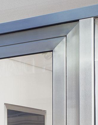neues profilsystem aus edelstahl f r fenster und t ren. Black Bedroom Furniture Sets. Home Design Ideas