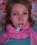 Atemwegserkrankungen, trockene Schleimhäute durch trockene Heizungsluft.