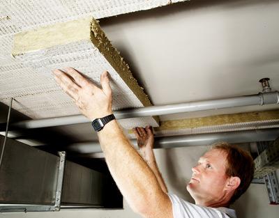 Kellerdeckenplatte, Brandschutz, Schallschutz, Kellerdecke dämmen, Steinwolle-Platten, Steinwolle-Dämmung, Wärmeschutz, Wärmedämmung, Deckendämmplatte