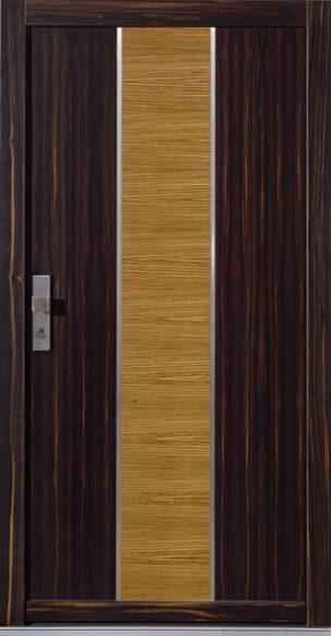 Haustür aus Holz, Haustüren aus Ebenholz und Zebrano, Holzhaustür, Holzhaustüren, Designhaustür, Design-Haustür, Intarsien, Designer-Haustür, Designhaustüren, Design-Haustüren, Designer-Haustüren, Möbelqualität, Türenbau, Möbelbau