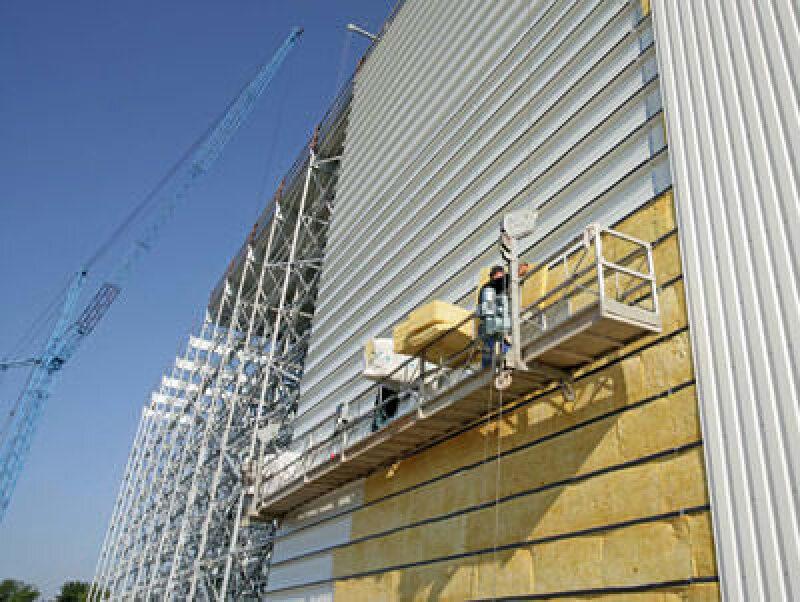 Fassadendämmplatte, Dämmstoffe, Fassadenbau, baulicher Wärmeschutz, Fassadendämmplatten, Knauf Insulation, Schallschutz, MPS-System, Multi Package System