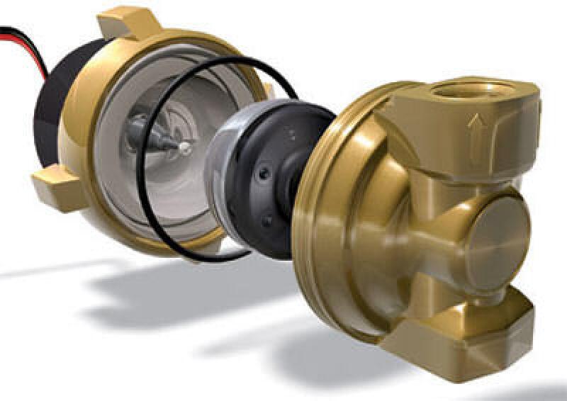 Umwälzpumpe, Zirkulationspumpe, Pumpe, Gleichstrompumpen, Umwälzpumpen, Gleichstrompumpe, Photovoltaik-Modul, Zirkulationspumpen, Pumpen, Kugelmotor-Umwälzpumpen, Strom-Spannungs-Kennlinie, Kugelmotor, Maximum-Power-Point-Tracker, MPP-Tracker, Wellenlager, Wellendichtung