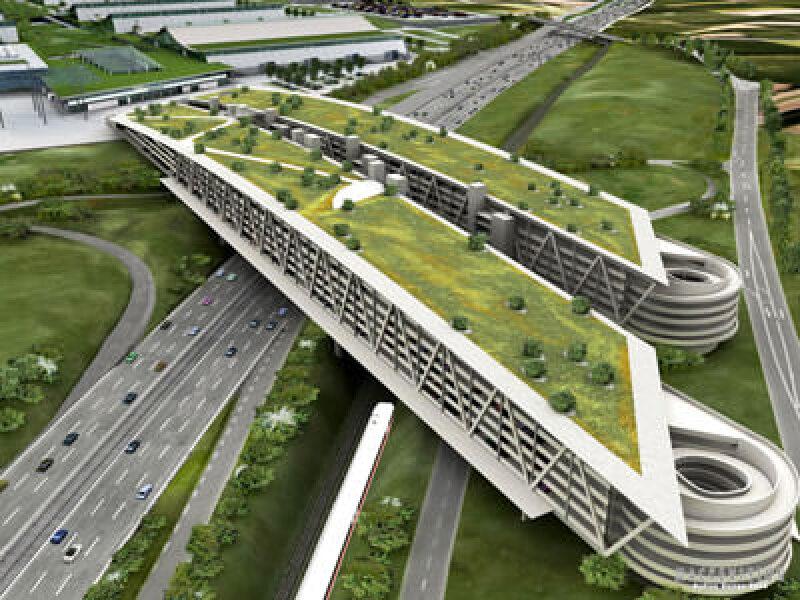 Parkhaus-Projekt Messe Stuttgart mit Hoesch Additiv Decke, Leichtdeckensystem