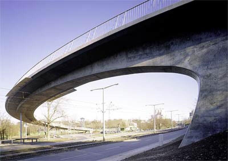 Deutscher Brückenbaupreis 2006, La-Ferté-Steg in Stuttgart, Fußbrücke, Radwegbrücke, Fußwegbrücke, Ingenieurbau, Fußbrücken, Radwegbrücken, Fußwegbrücken, Ingenieurbauten