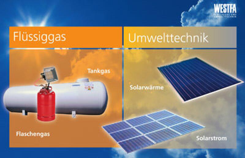 Westfa, Solarmarkt, Solarthermie, Solarunternehmen, Photovoltaik, Umwelttechnik, Flüssiggas, Solartechnik
