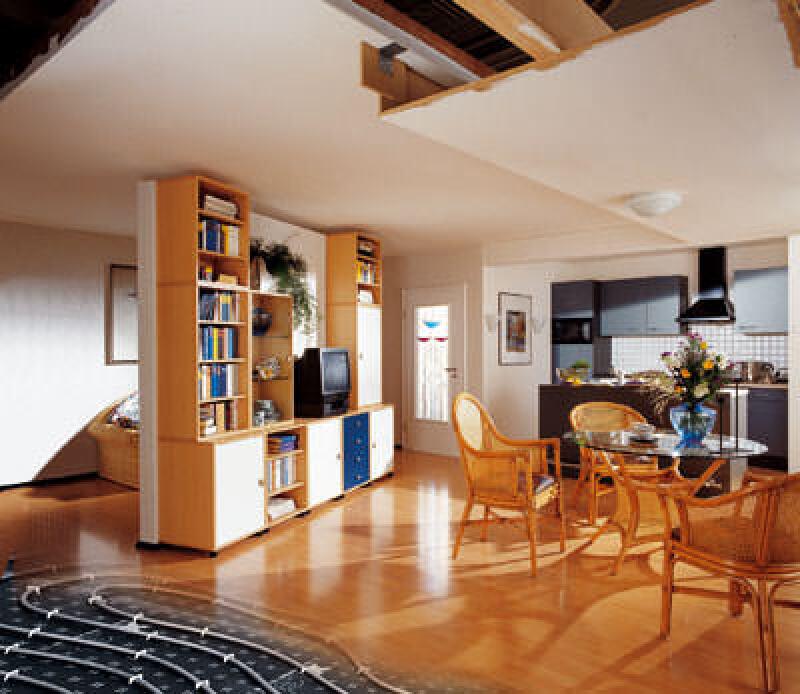 Flächenkühlung, Flächentemperierung, Bauteilaktivierung, stille Kühlung, baukörperintegrierten Flächenheizung