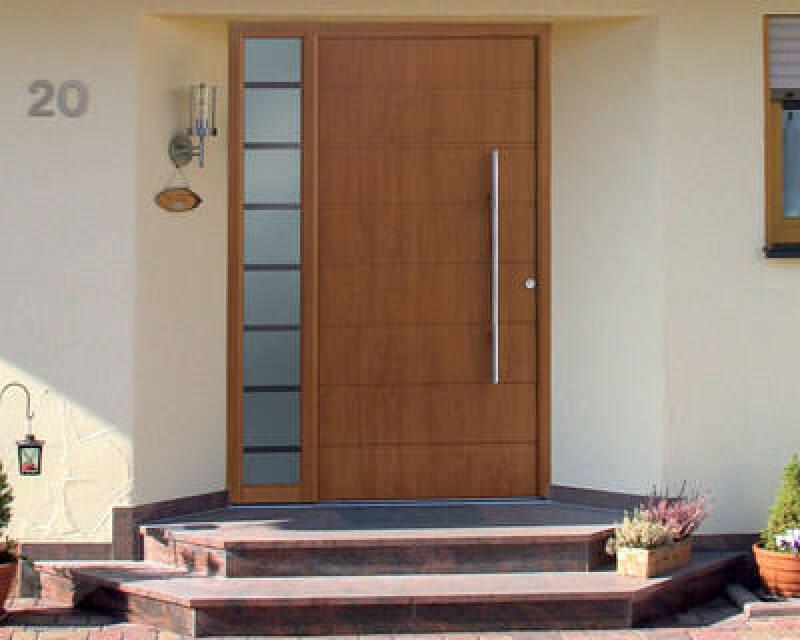 Hörmann haustüren preise  Aluminium-Haustür mit Holzdekor von Hörmann