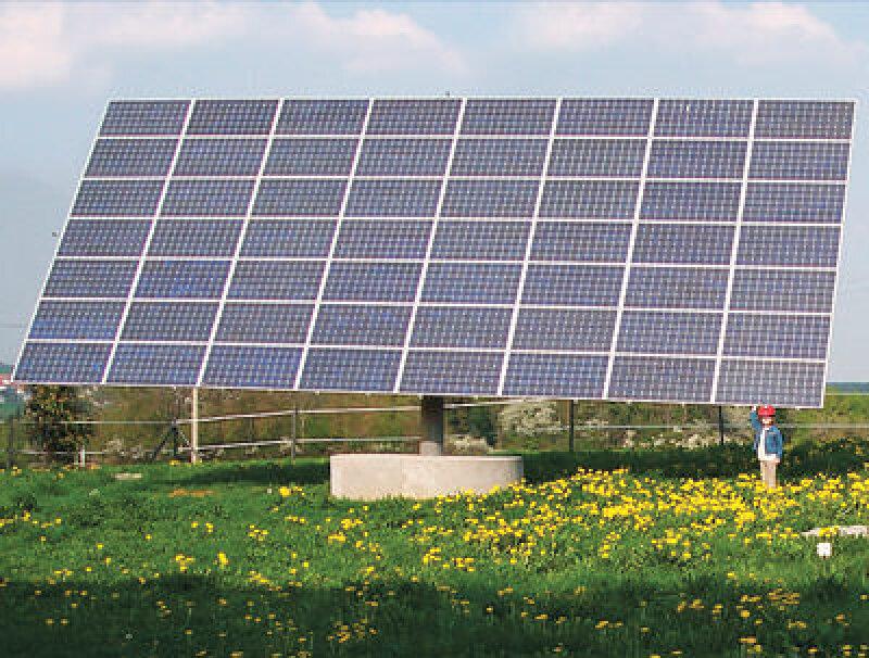 Nachführsystem mit Photovoltaik-Modulen