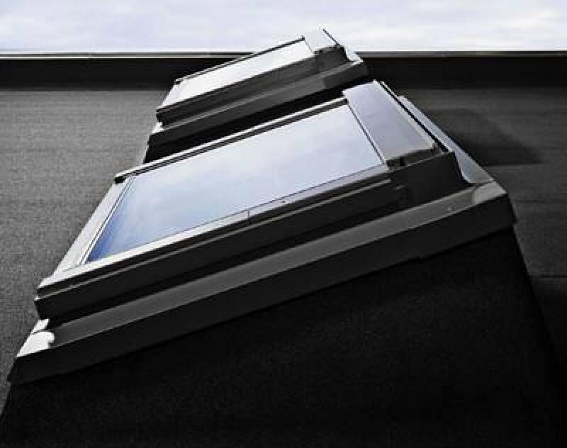 Flachdachfenster mit Aufkeilrahmen