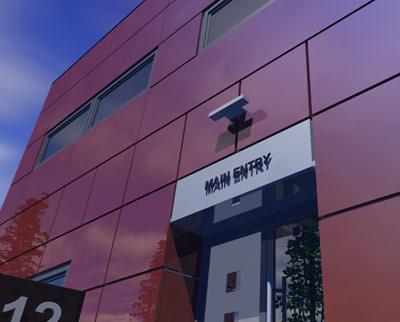 Stahlfassade, Hoesch Matrix, Fassade aus Stahl, Stahl-Sandwichelement, Stahlfassaden, vorgehängte Kassettenfassade, Vorhangfassade, Kassettenfassaden, Stahl-Sandwichelemente, Vorhangfassaden, Gebäudehülle