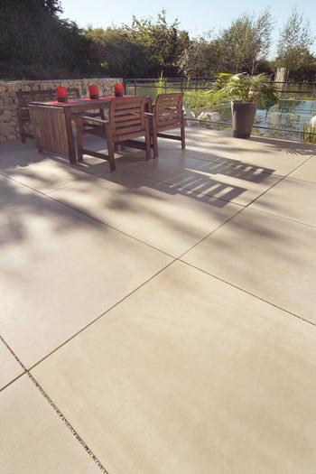 Großzügigkeit Im Garten Pflasterplatten Im XXLFormat - Betonplatten 100 x 40