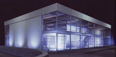 Modulbauweise, General Electric, modulares Autohaus, Modularbau, Modulbau, GE Modular Space, Module, schlüsselfertig, Container, schlüsselfertiger Gewerbebau